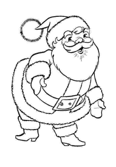 santa claus color free christmas colouring pages for children kids online santa color claus