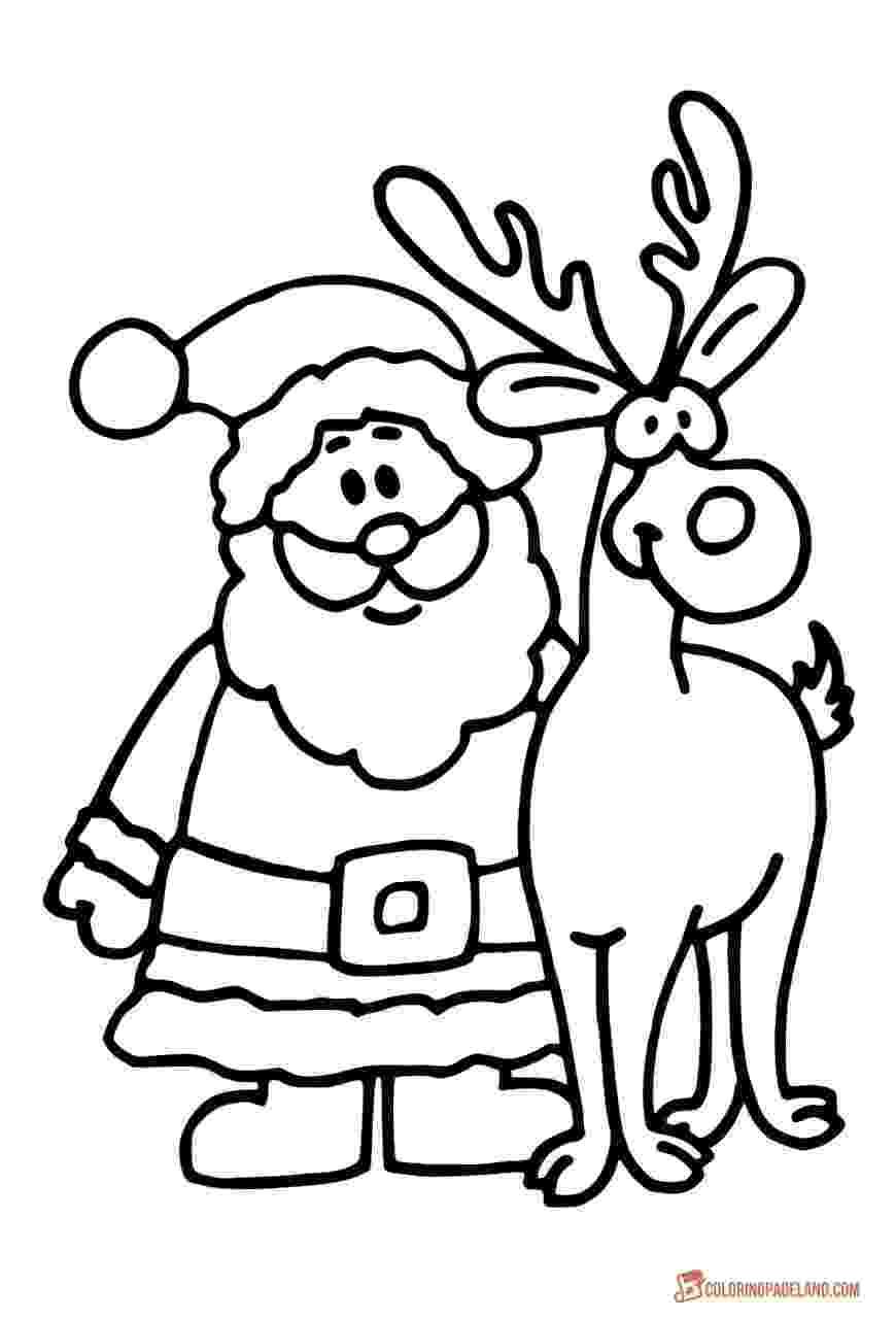 santa claus color santa claus printable coloring pages for christmas claus color santa