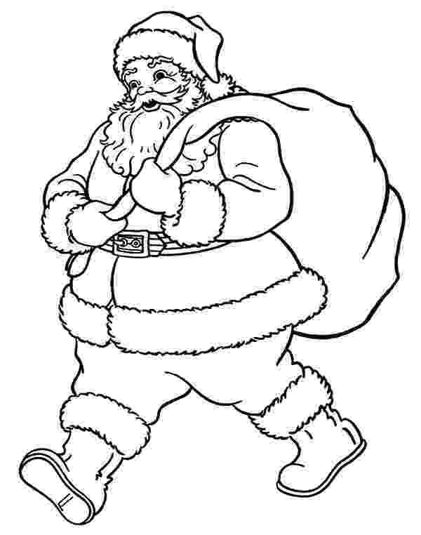 santa claus color santa claus walking to good kid house coloring pages santa color claus