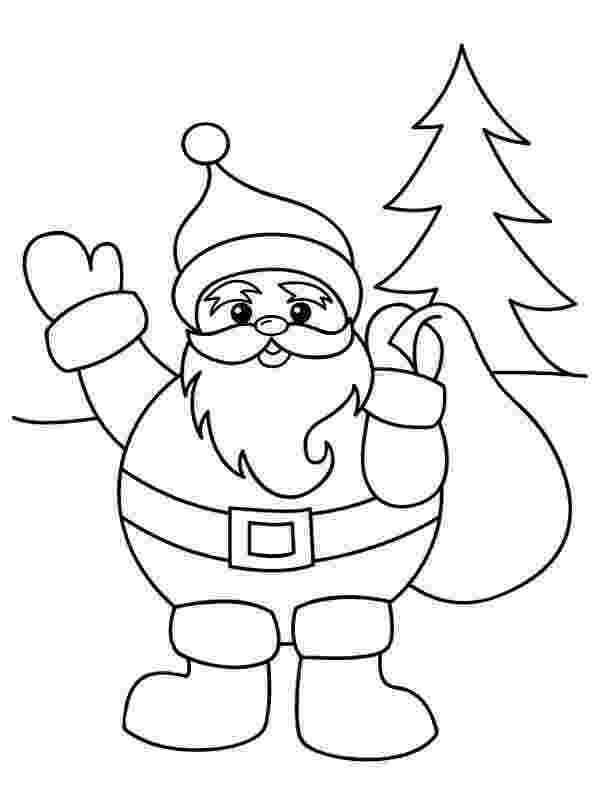 santa claus color santa claus with christmas sack on his back on christmas claus santa color