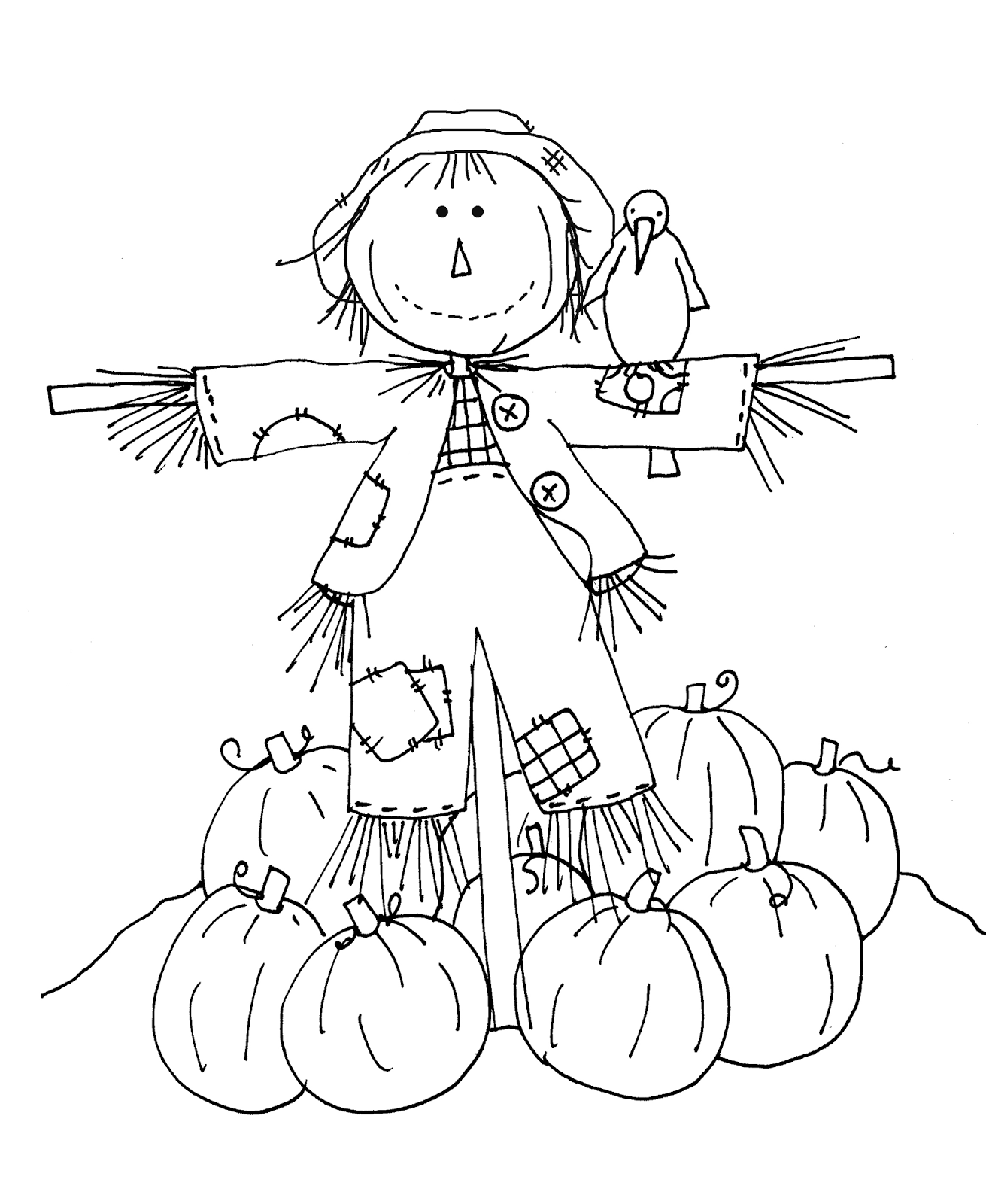 scarecrow coloring pages free dearie dolls digi stamps friendly scarecrow part two pages coloring scarecrow