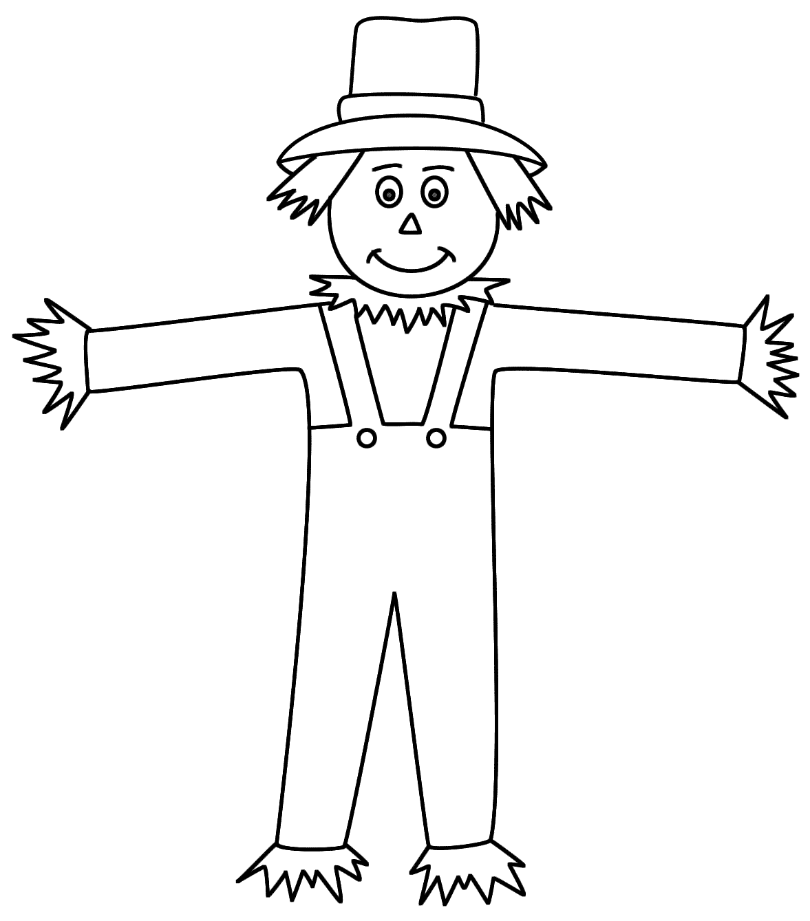 scarecrow coloring pages free printable scarecrow coloring pages for kids scarecrow pages coloring