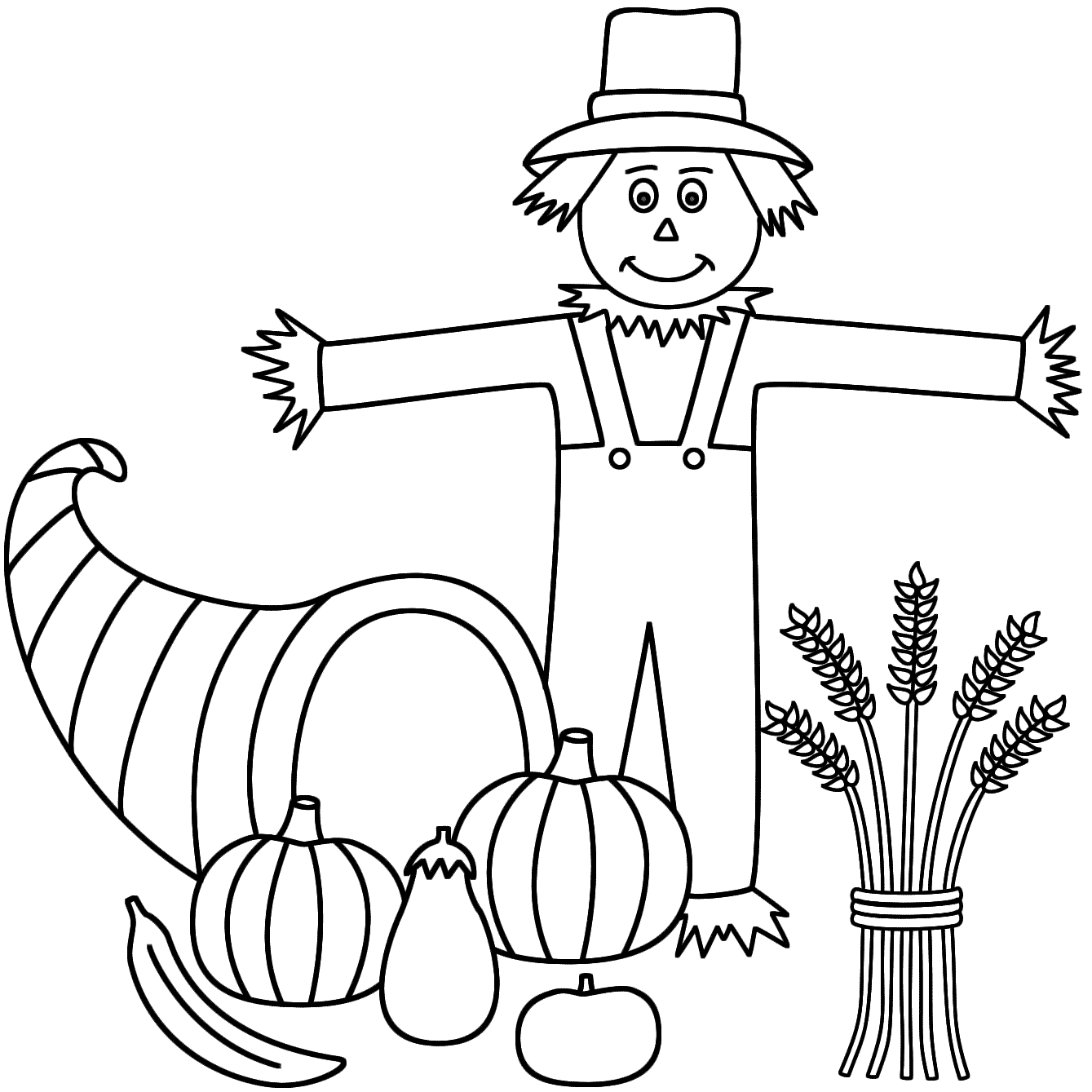 scarecrow coloring pages scarecrow coloring pages to download and print for free scarecrow coloring pages