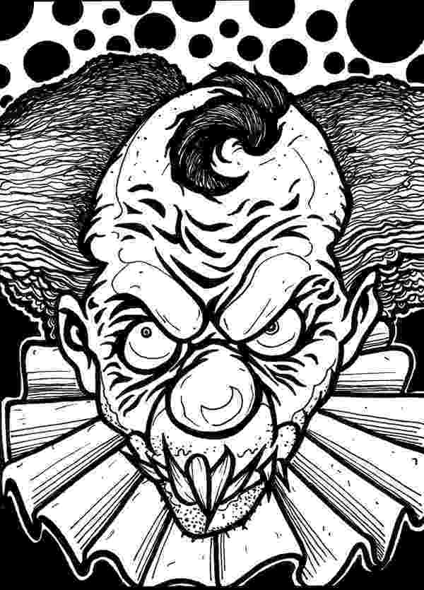 scary clown coloring page scary clown coloring pages coloring pages to download clown coloring scary page