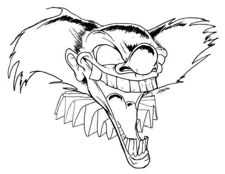 scary clown coloring page scary coloring pages best coloring pages for kids coloring scary clown page