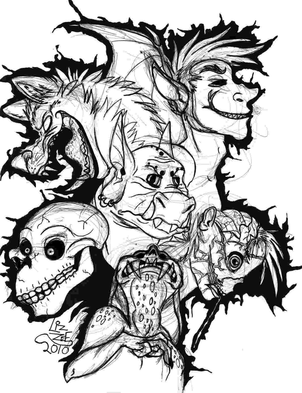 scary monster coloring pages scary dragon monster coloring pages hellokidscom scary pages monster coloring