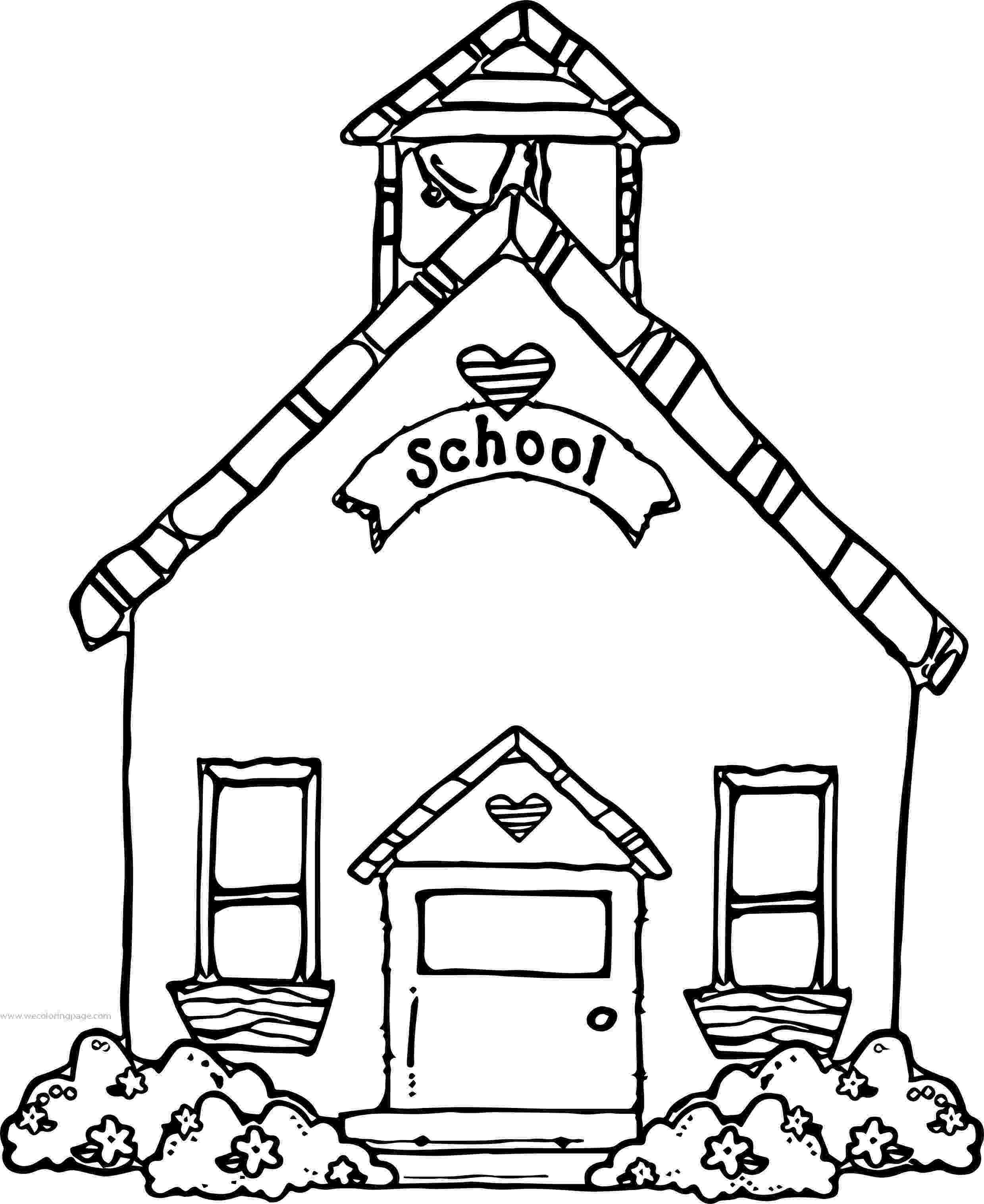 school building coloring pages back to school school house coloring page coloring building school pages