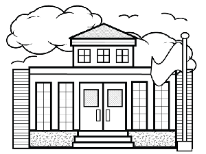 school building coloring pages coloring page of a school building coloring home school pages coloring building