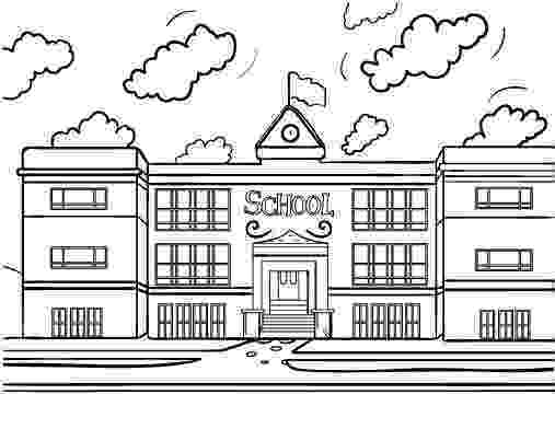 school building coloring pages pin by muse printables on coloring pages at coloringcafe building school pages coloring