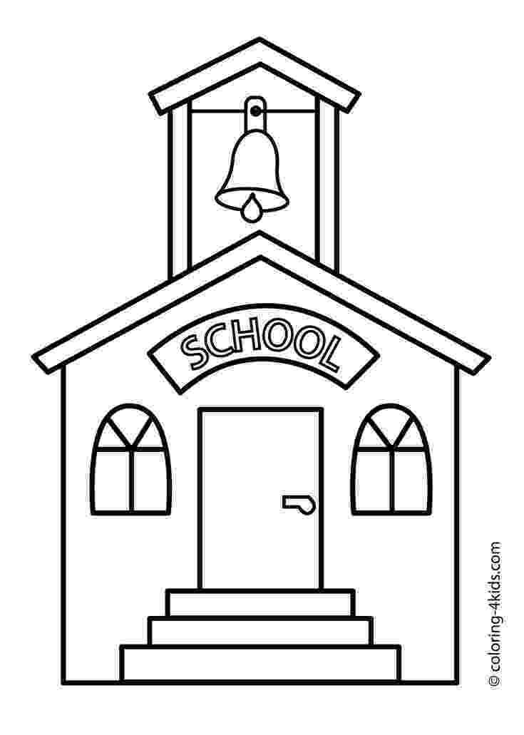 school building coloring pages school coloring pages getcoloringpagescom building pages school coloring
