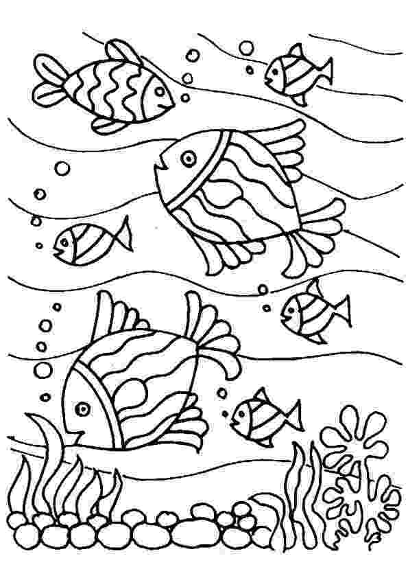 school of fish coloring pages 1000 images about school thema onderwater on pinterest school coloring of fish pages