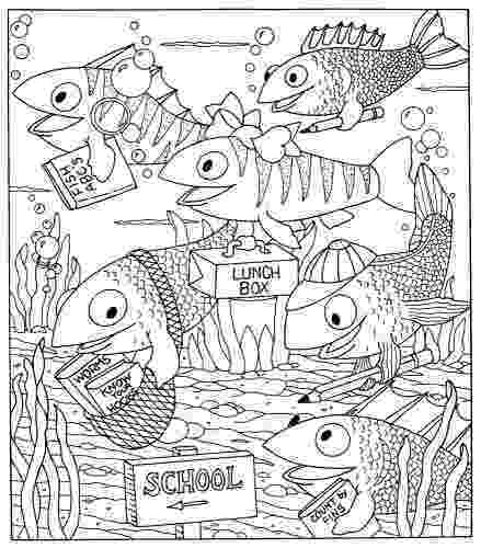 school of fish coloring pages 460 best images about kleurplaten on pinterest coloring school fish coloring of pages