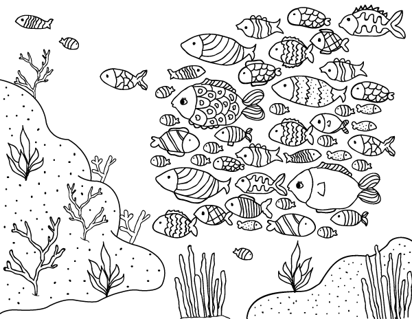 school of fish coloring pages fall coloring page school of fish woo jr kids activities fish coloring of pages school