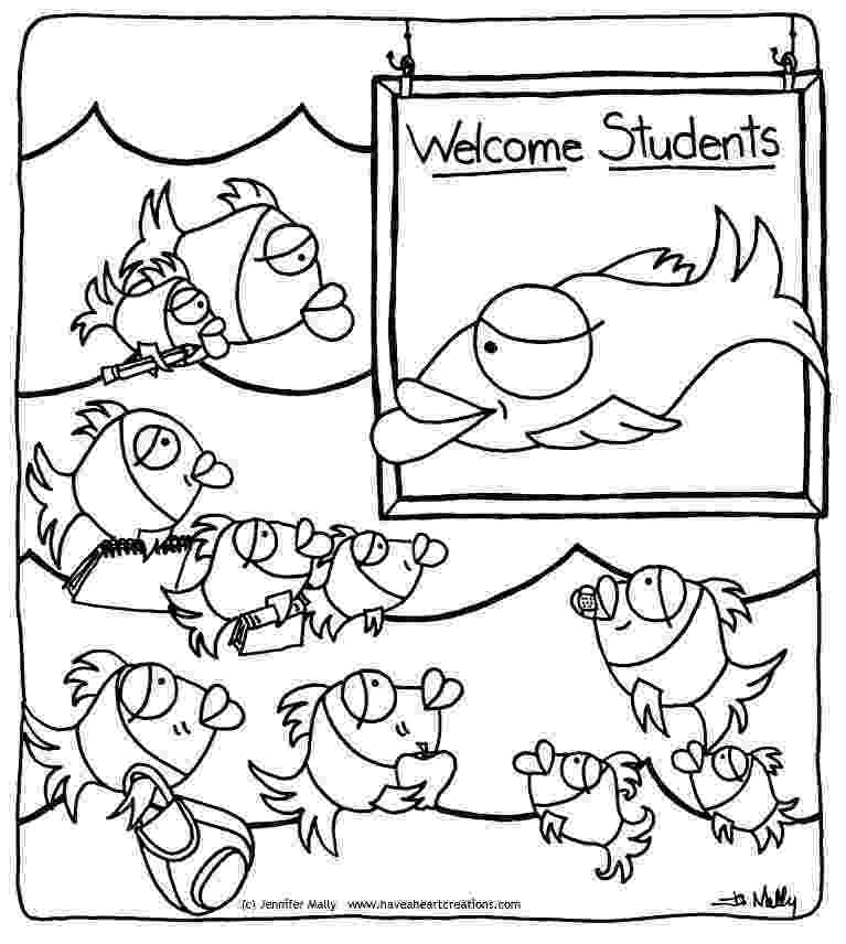 school of fish coloring pages jen mally fish school coloring sheet pages of fish coloring school