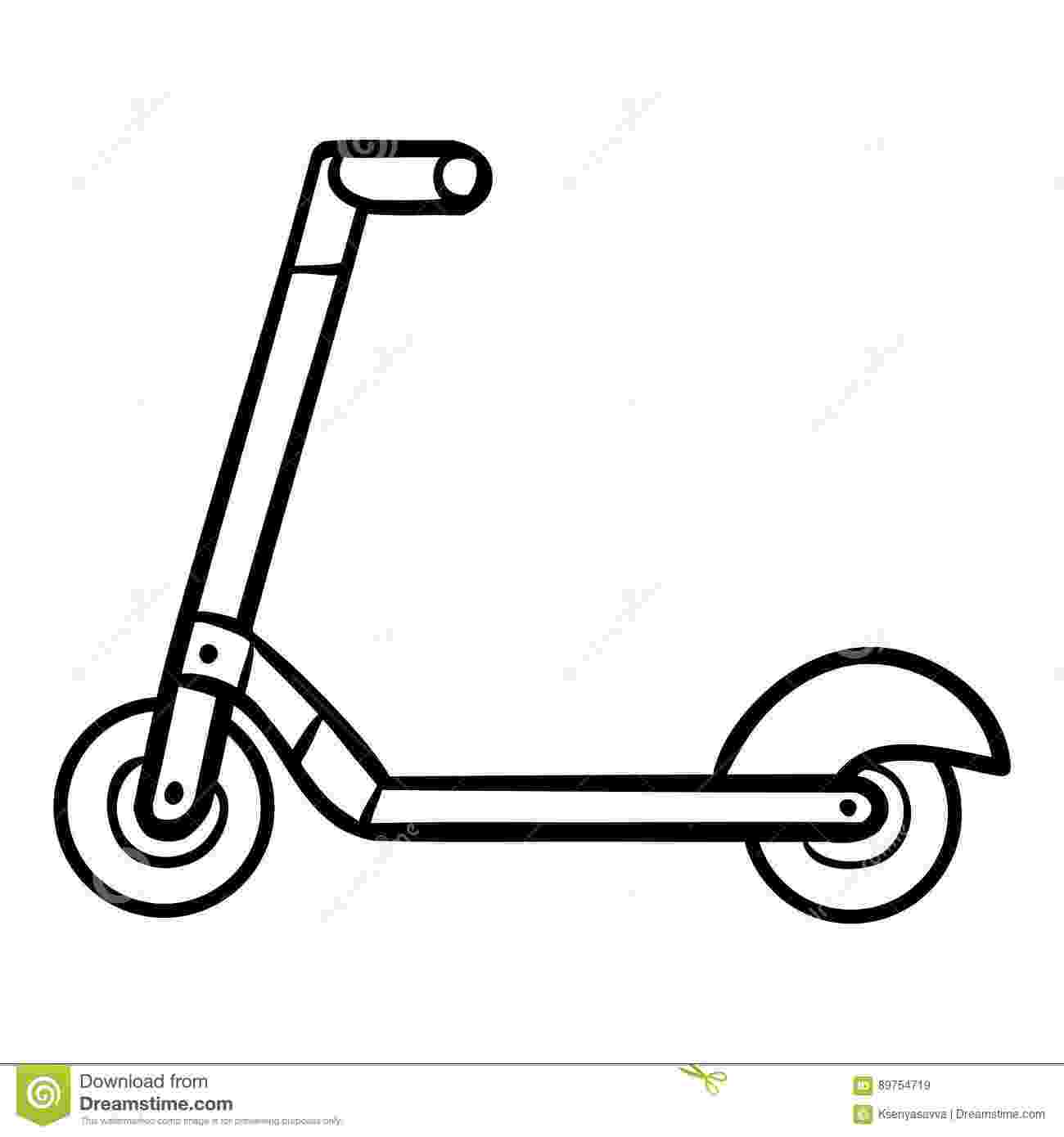 scooter colouring pictures children39s scooter coloring page coloringcrewcom scooter pictures colouring