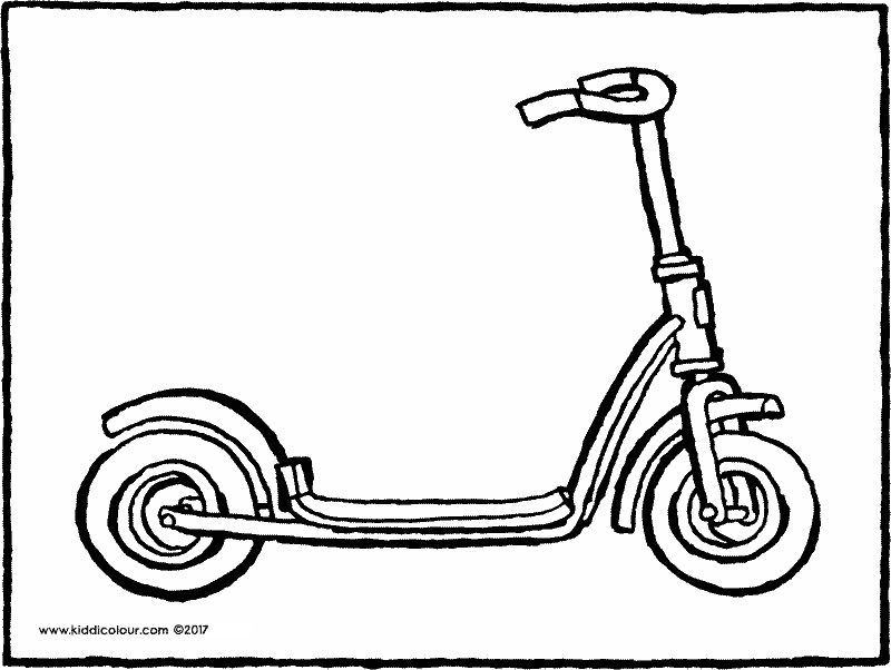 scooter colouring pictures kick scooter coloring pages coloring pages to download colouring scooter pictures