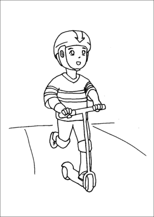 scooter colouring pictures kick scooter coloring pages coloring pages to download pictures colouring scooter