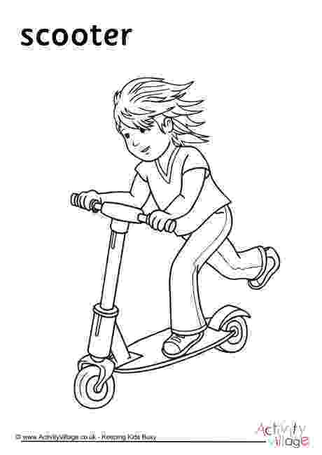 scooter colouring pictures kick scooter coloring pages coloring pages to download scooter pictures colouring