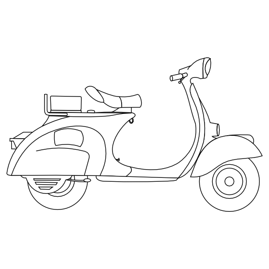 scooter colouring pictures on the street colouring pages page 2 of 2 kiddicolour scooter pictures colouring