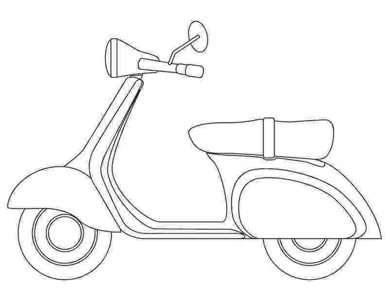 scooter colouring pictures scooter coloring page coloringcrewcom colouring scooter pictures