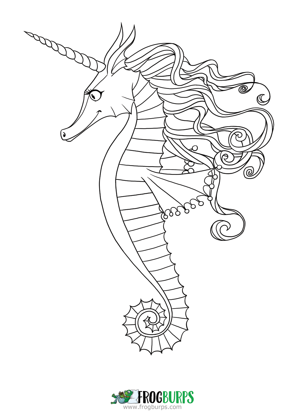 seahorses coloring pages fun freebies frogburps pages seahorses coloring