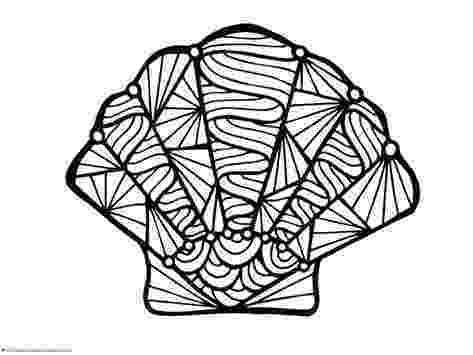 seashell coloring page how to draw a seashell seashells step by step stuff seashell coloring page