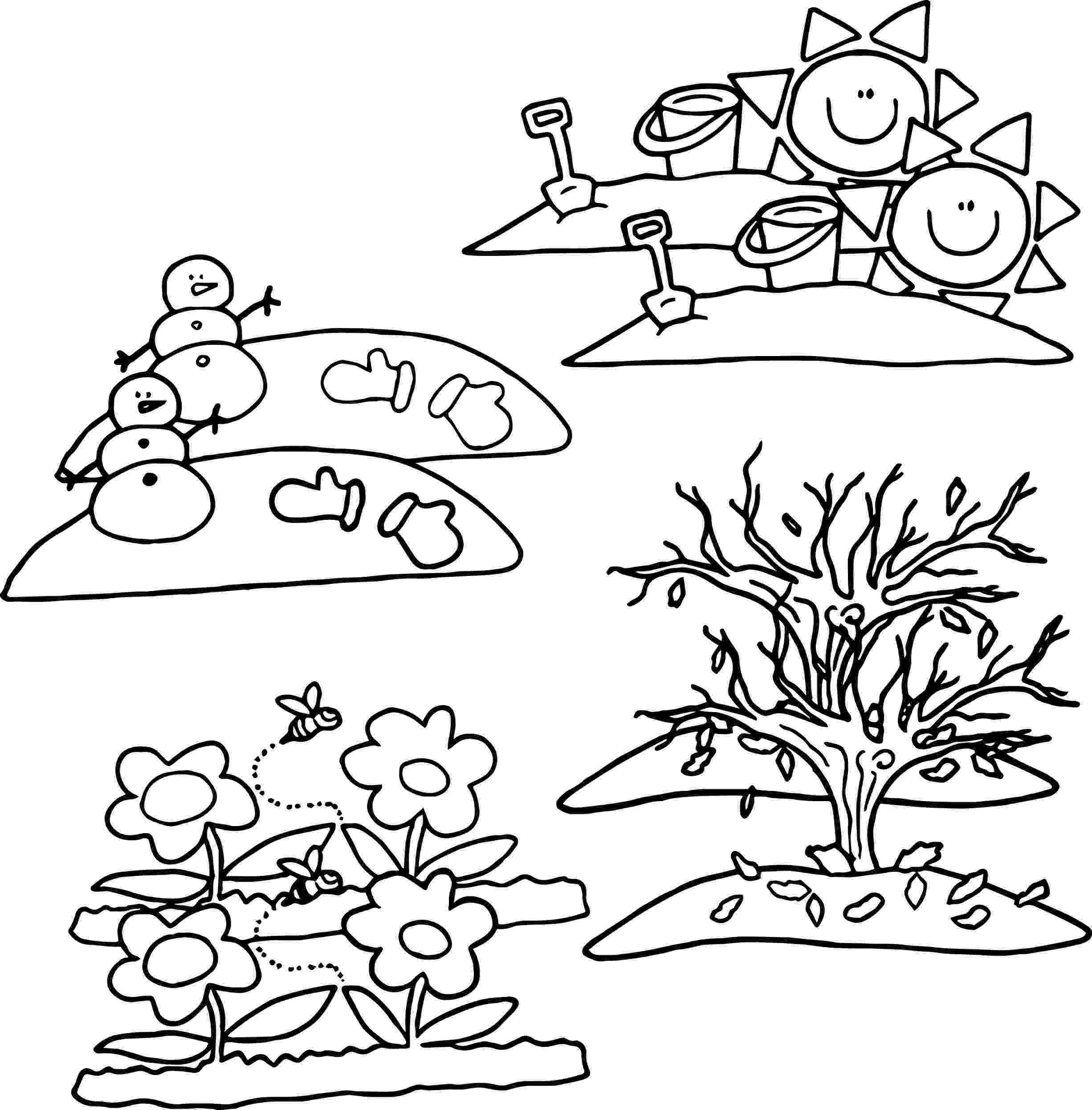 seasons coloring pages 4 seasons coloring page wecoloringpage 5 Évszakok pages seasons coloring