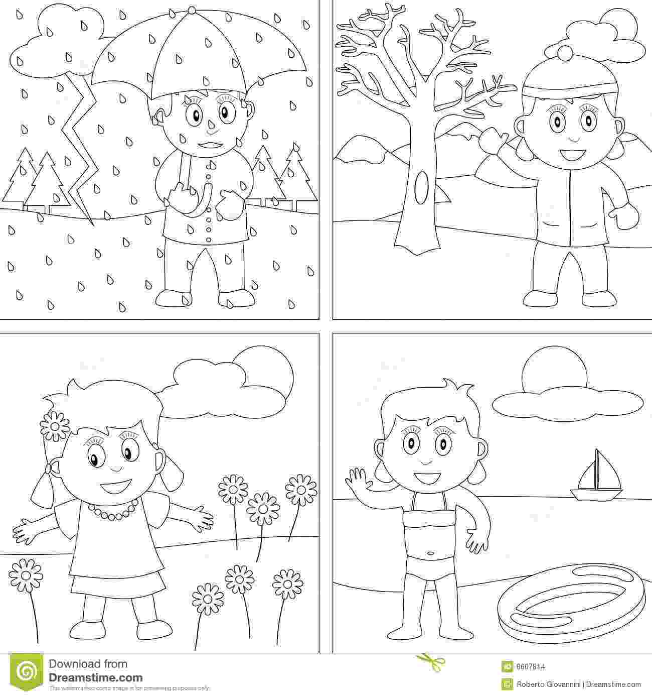 seasons coloring pages 4 seasons coloring pages sketch coloring page pages seasons coloring