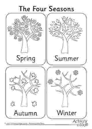seasons coloring pages four seasons coloring page printable sketch coloring page pages seasons coloring