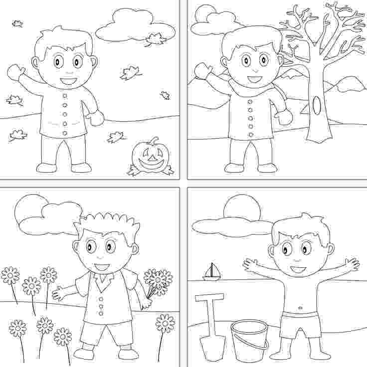 seasons coloring pages seasons colouring pages pages coloring seasons