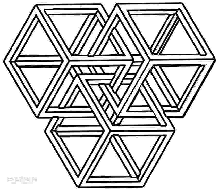 shape coloring page 3 dimensional shapes drawing at getdrawingscom free for coloring page shape
