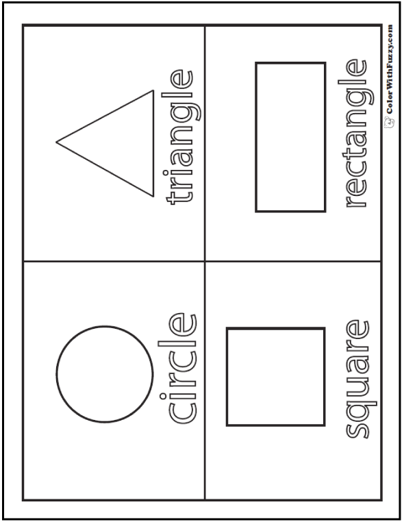 shape coloring page shapes coloring pages for childrens printable for free page shape coloring