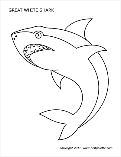 shark printables free printable shark coloring pages for kids printables shark