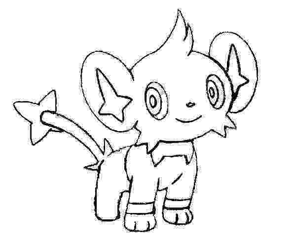 shinx coloring pages coloring pages pokemon shinx drawings pokemon coloring shinx pages