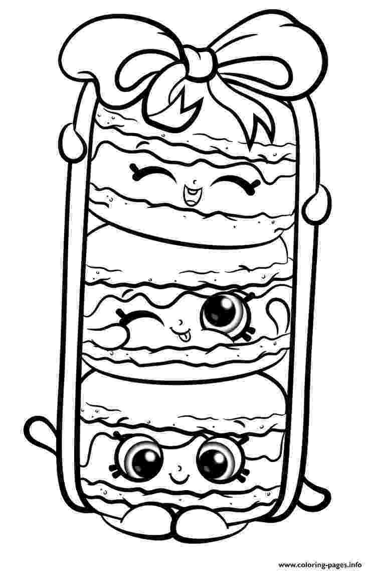 shopkins print stack le macarons from shopkins season 8 coloring shopkins