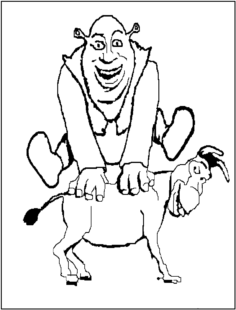 shrek and donkey coloring pages cartoon character coloring pages shrek and donkey kids shrek coloring and donkey pages