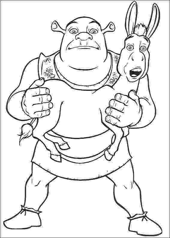 shrek and donkey coloring pages shrek coloring pages 360coloringpages and coloring shrek donkey pages