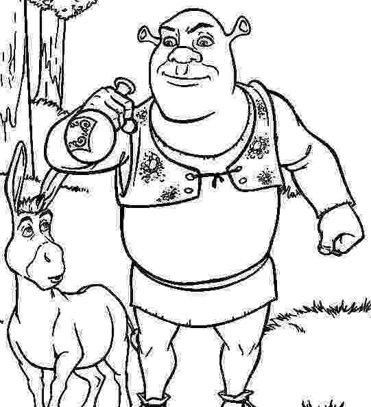 shrek and donkey coloring pages shrek coloring pages getcoloringpagescom pages donkey shrek and coloring