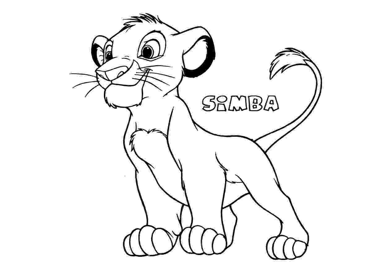 simba coloring sheet kids coloring pages free download kids online world blog simba sheet coloring