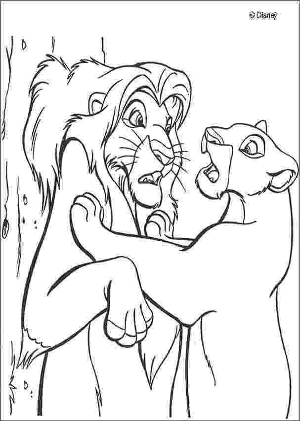 simba coloring sheet nala finds simba coloring pages hellokidscom sheet coloring simba