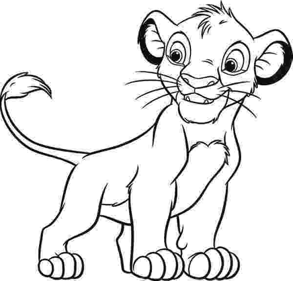 simba coloring sheet printable the lion king coloring pages simba coloring sheet