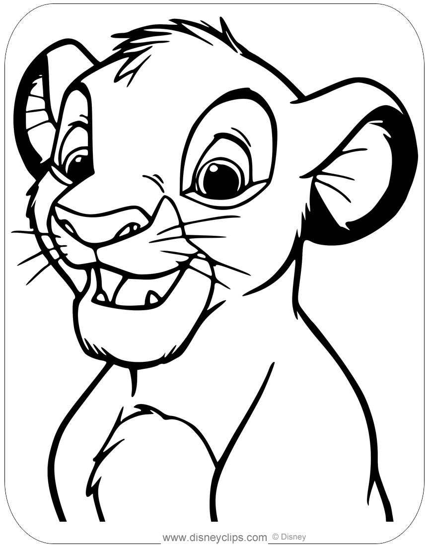 simba coloring sheet the lion king coloring pages disneyclipscom sheet coloring simba