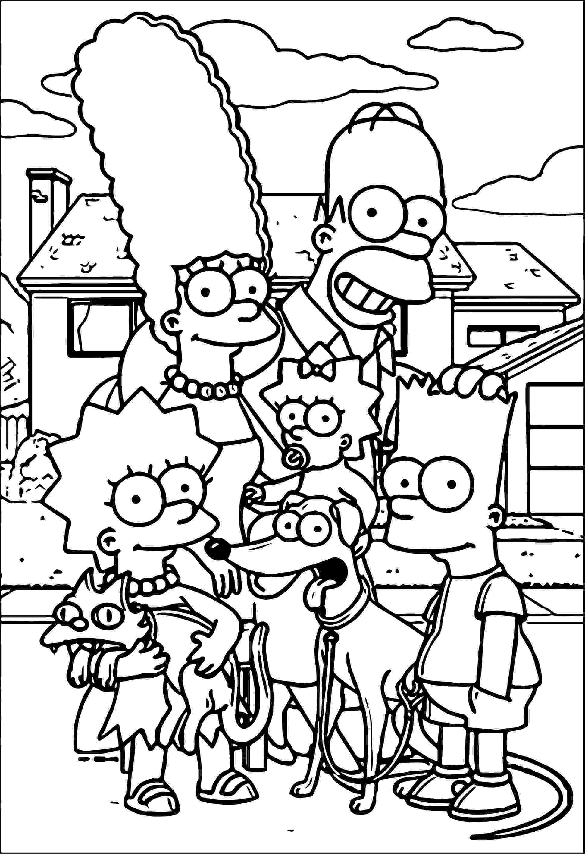 simpson coloring pages bart simpson coloring pages coloring simpson pages