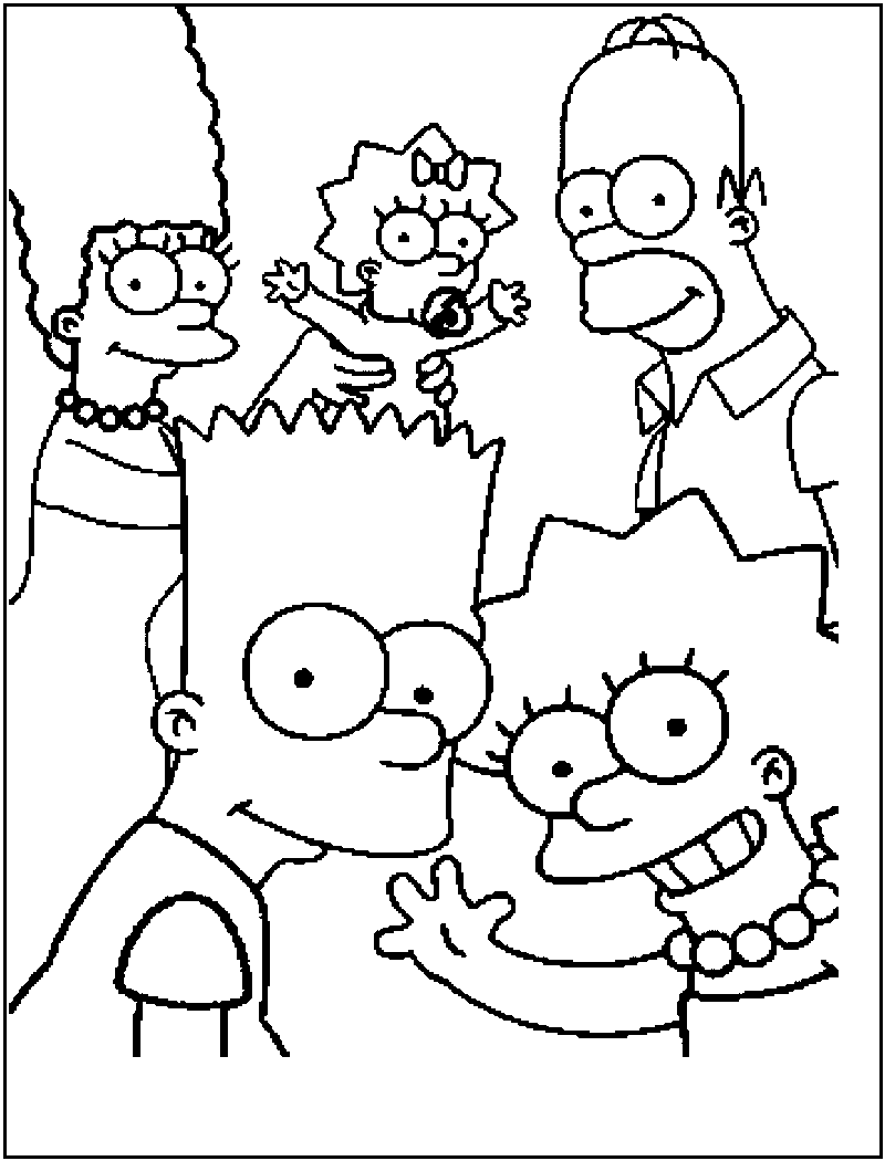 simpson coloring pages free printable simpsons coloring pages for kids simpson coloring pages