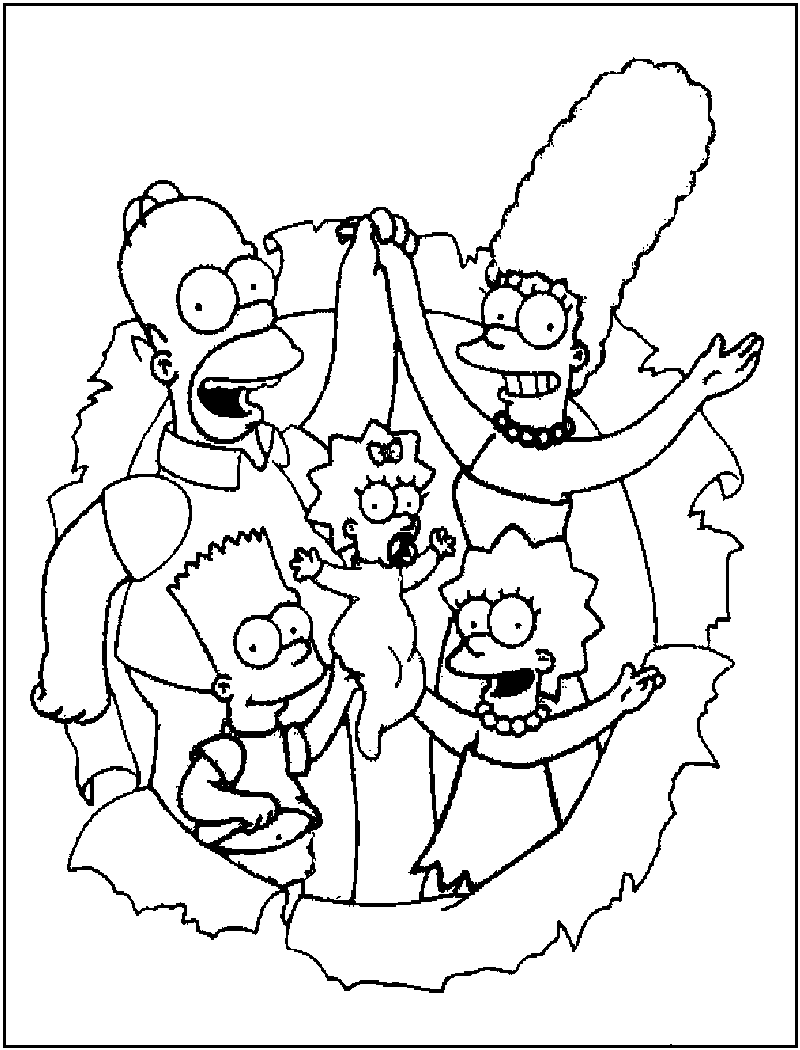 simpson coloring pages simpsons coloring pages coloring pages to print simpson coloring pages