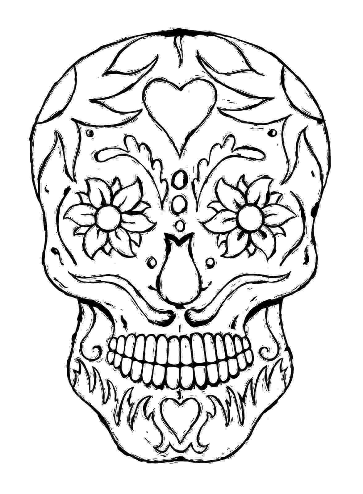 skull coloring sheet printable skulls coloring pages for kids cool2bkids skull coloring sheet