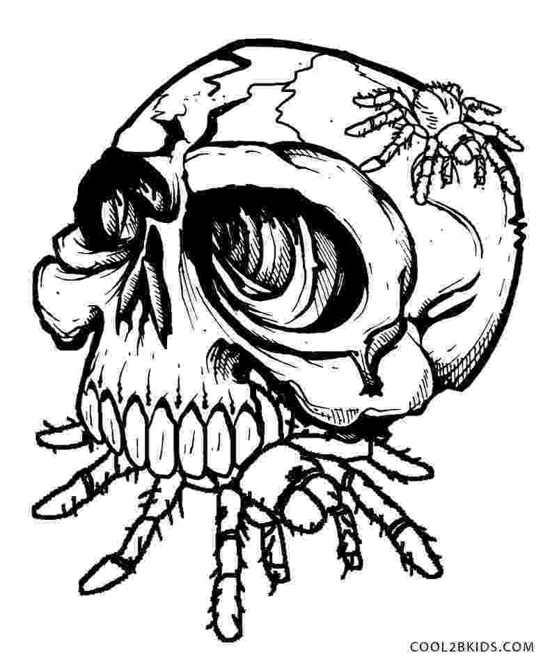 skull coloring sheet printable skulls coloring pages for kids cool2bkids skull coloring sheet 1 1