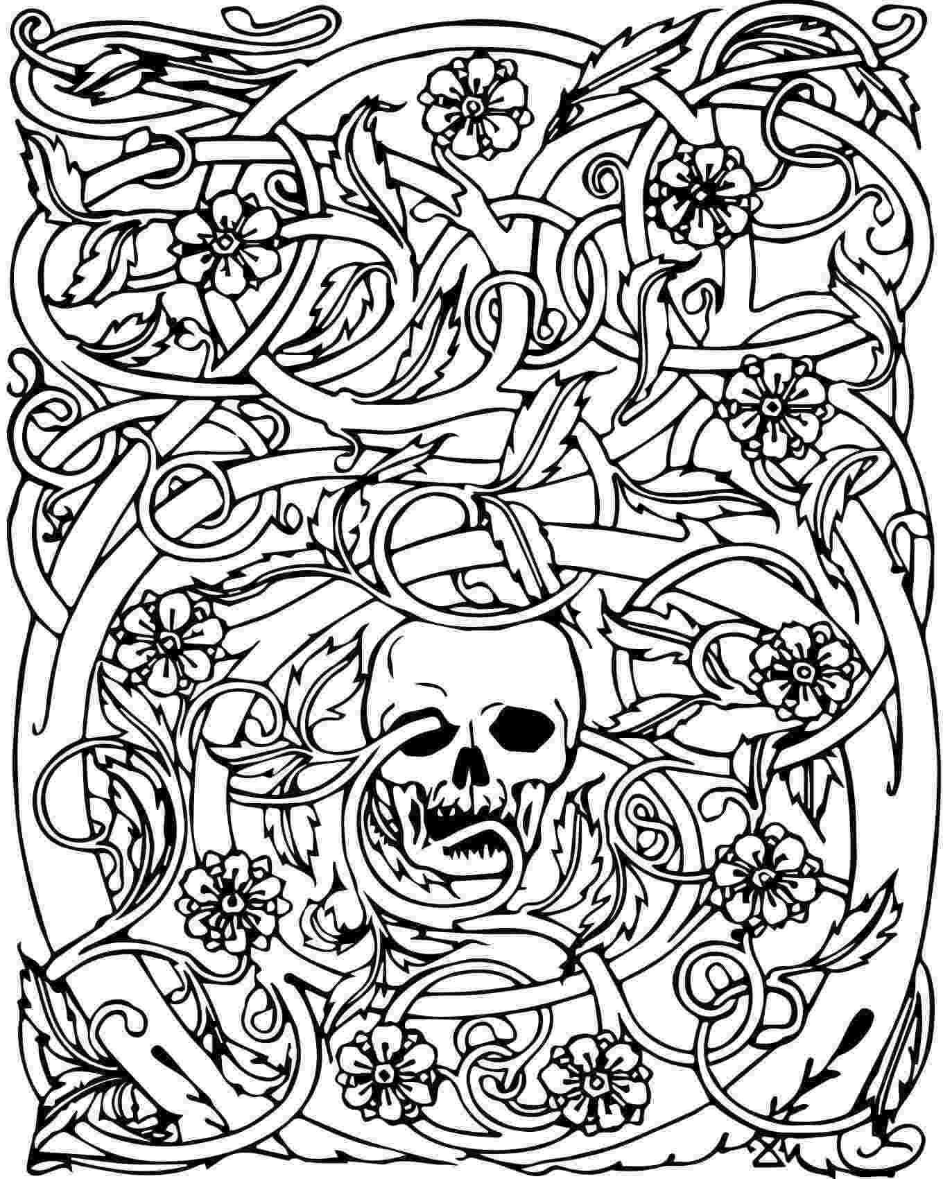 skull coloring sheets free printable skull coloring pages for kids skull coloring sheets 1 2