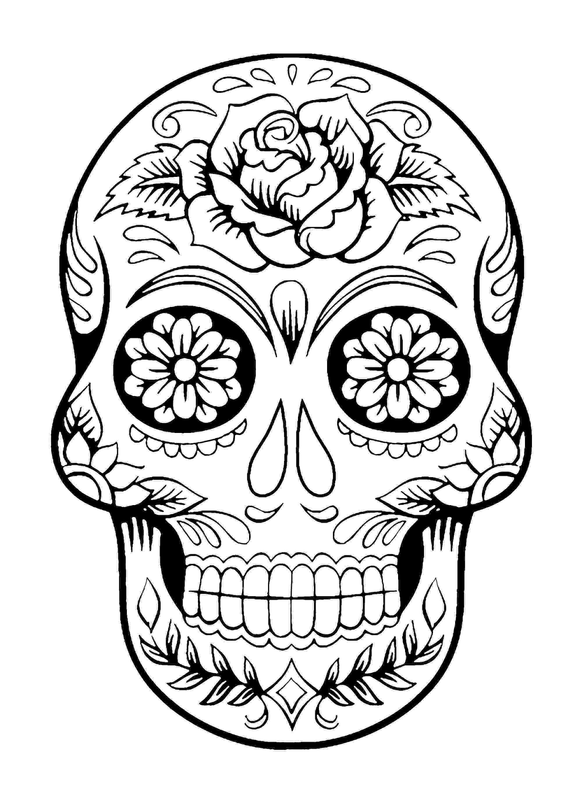 skull coloring sheets sugar skull coloring pages best coloring pages for kids sheets skull coloring