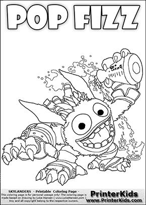 skylanders coloring pages pop fizz skylanders magic element coloring pages team colors skylanders fizz pop pages coloring